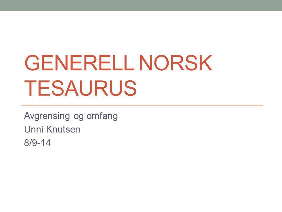 generell norsk tesaurus