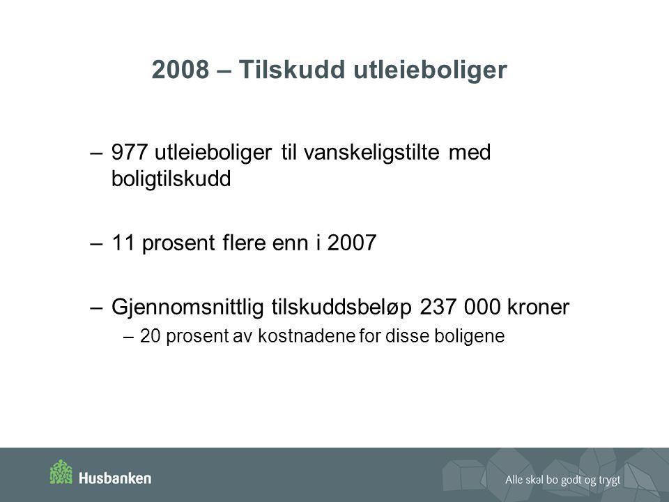 2008 – Tilskudd utleieboliger