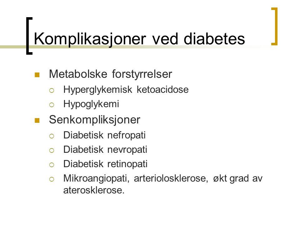Komplikasjoner ved diabetes