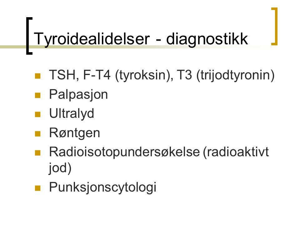 Tyroidealidelser - diagnostikk