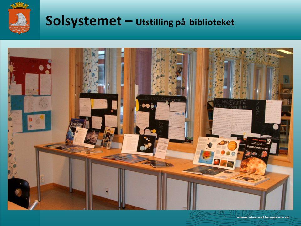 Solsystemet – Utstilling på biblioteket