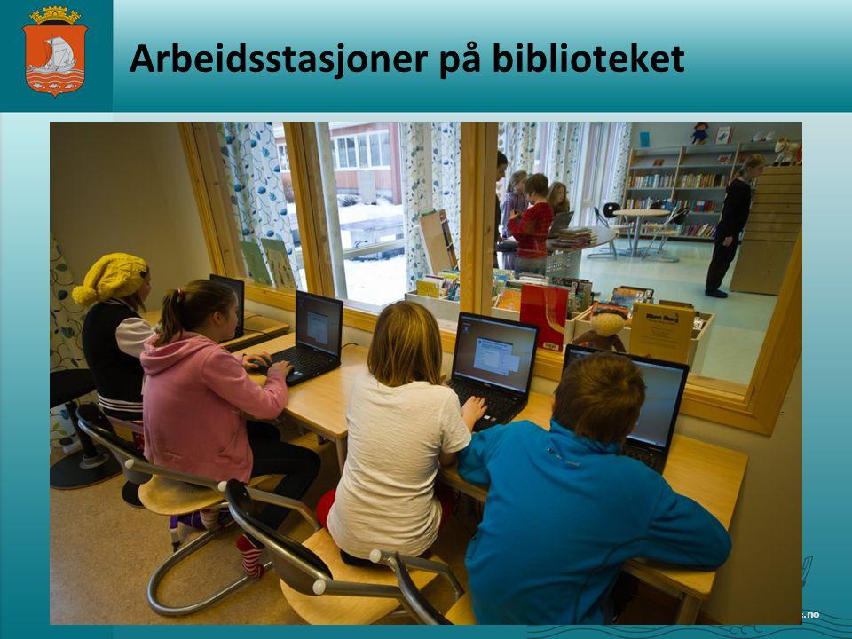 Arbeidsstasjoner på biblioteket