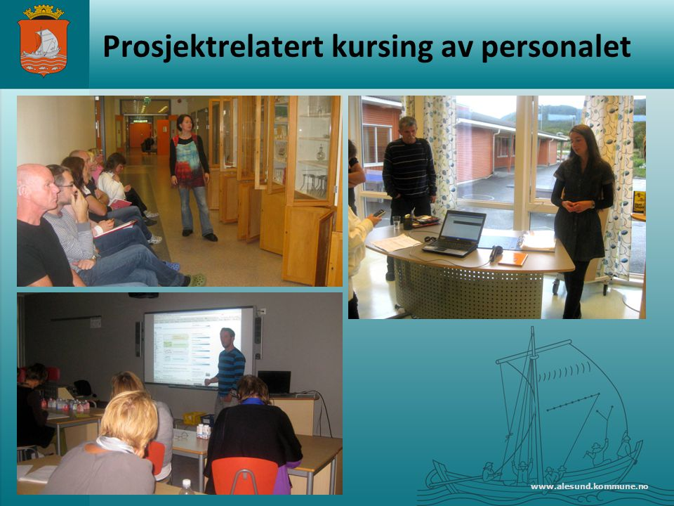 Prosjektrelatert kursing av personalet