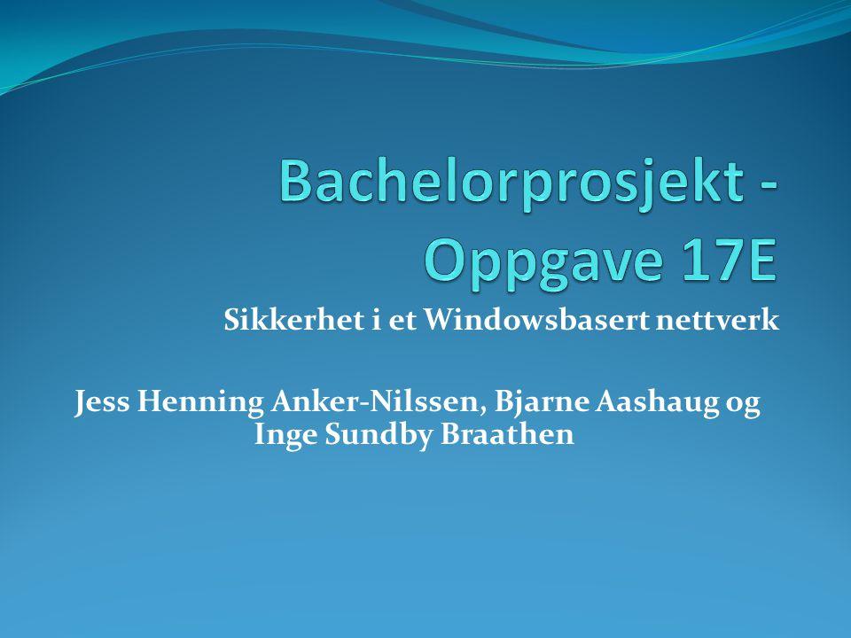 Bachelorprosjekt - Oppgave 17E