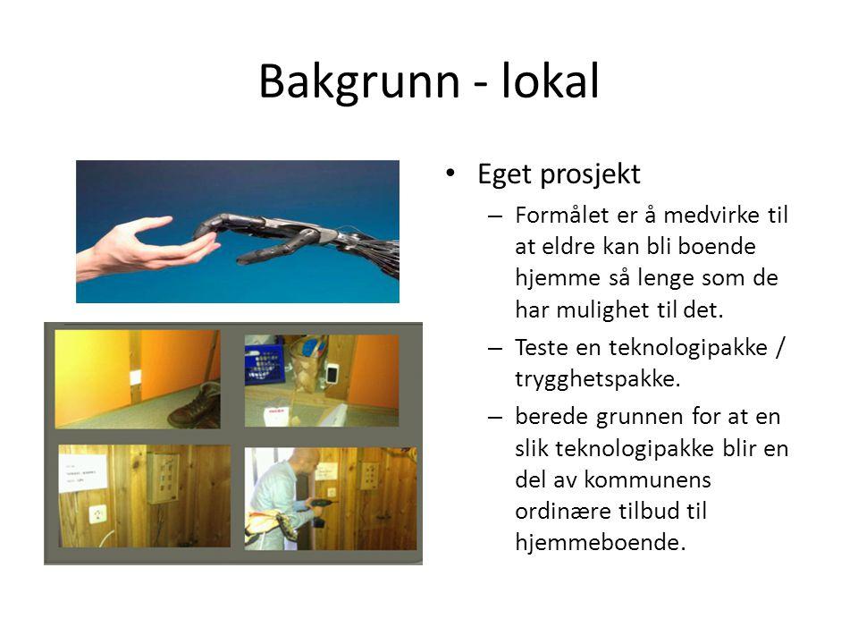 Bakgrunn - lokal Eget prosjekt