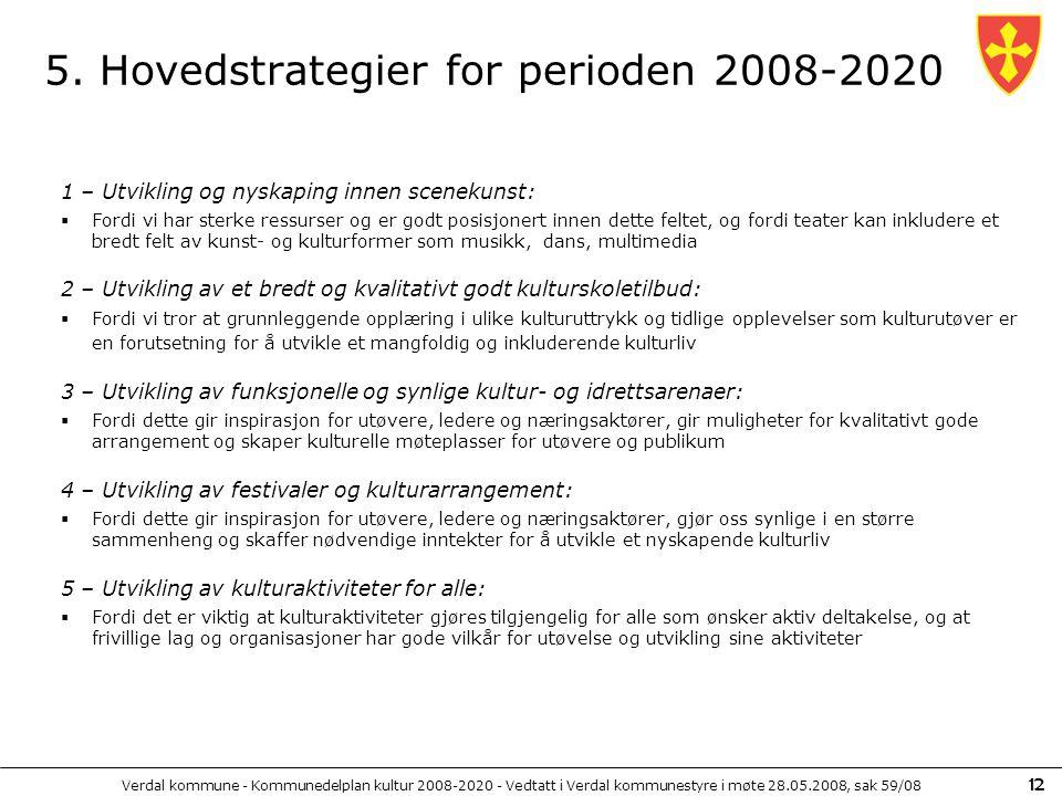 5. Hovedstrategier for perioden 2008-2020