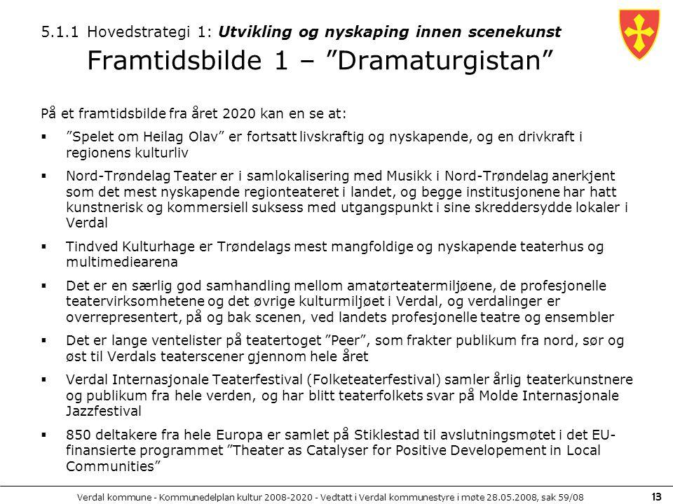 5.1.1 Hovedstrategi 1: Utvikling og nyskaping innen scenekunst Framtidsbilde 1 – Dramaturgistan
