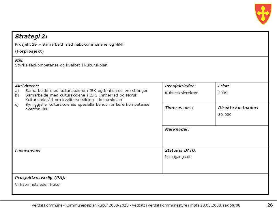 Strategi 2: Prosjekt 2B – Samarbeid med nabokommunene og HiNT