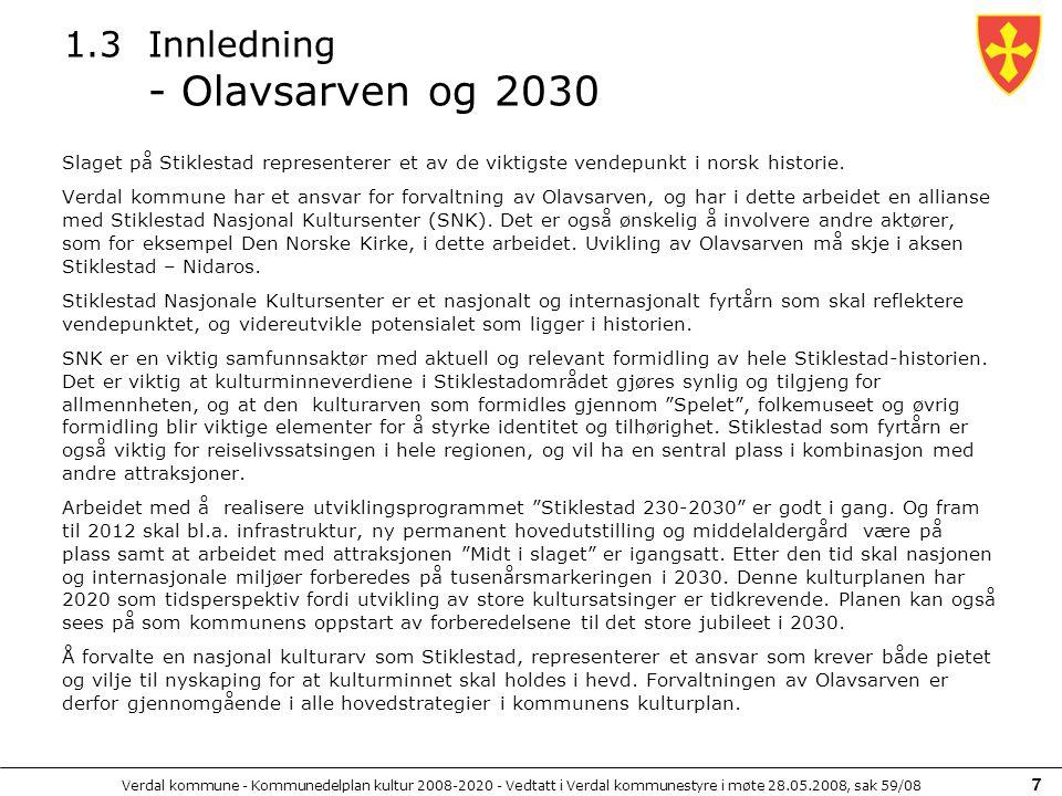 1.3 Innledning - Olavsarven og 2030