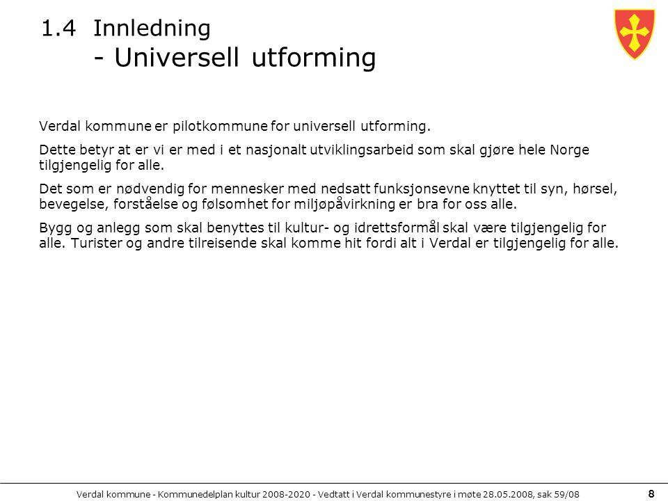 1.4 Innledning - Universell utforming