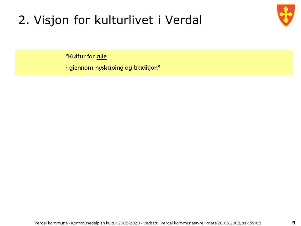 2. Visjon for kulturlivet i Verdal