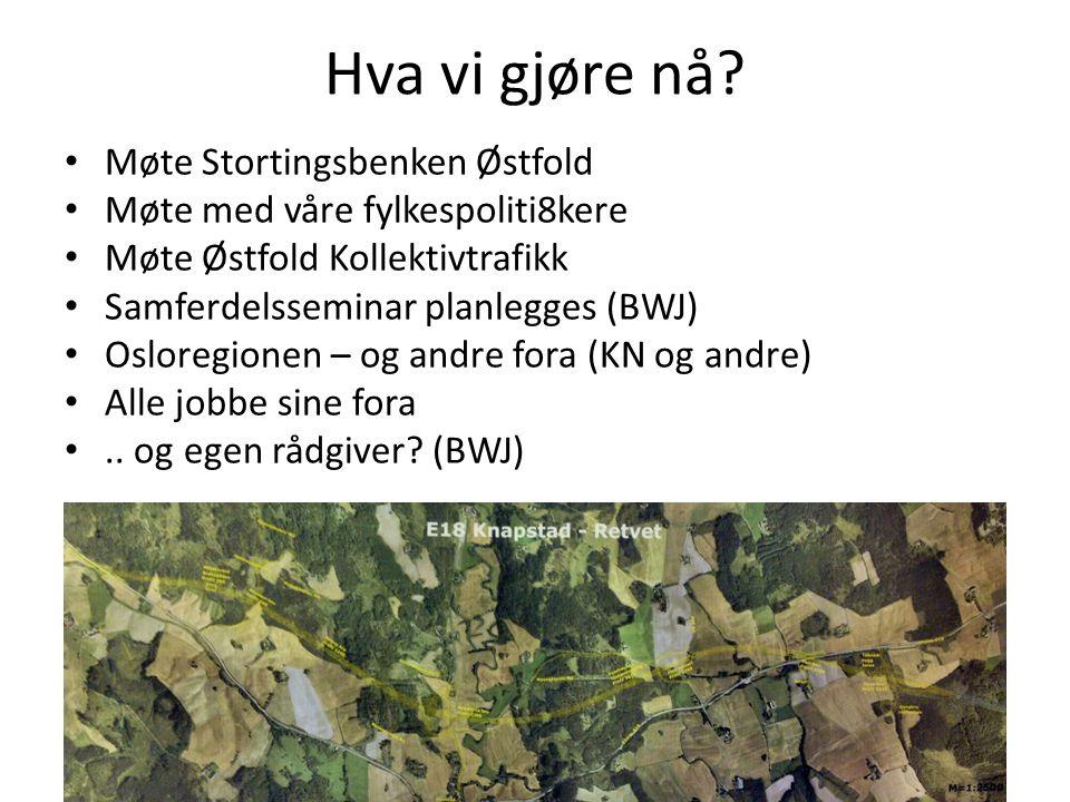 Hva vi gjøre nå Møte Stortingsbenken Østfold