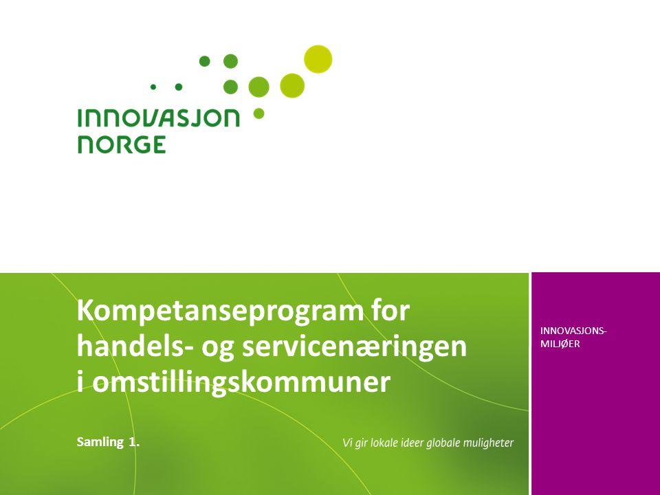 Kompetanseprogram for handels- og servicenæringen i omstillingskommuner