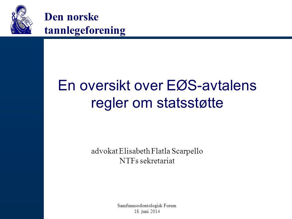 En oversikt over EØS-avtalens regler om statsstøtte