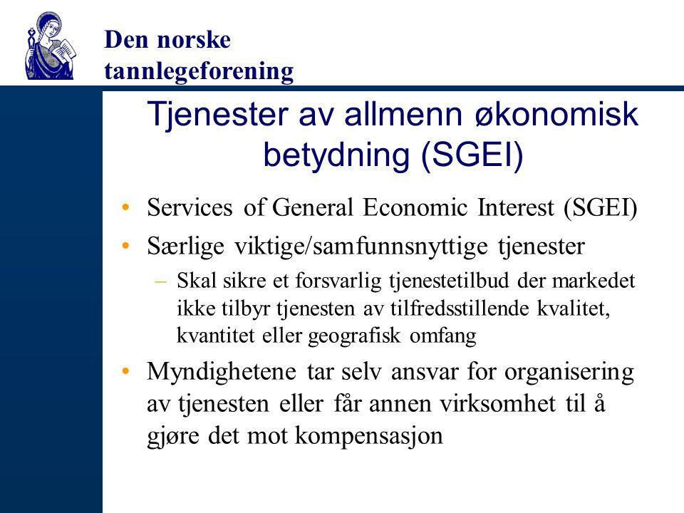 Tjenester av allmenn økonomisk betydning (SGEI)