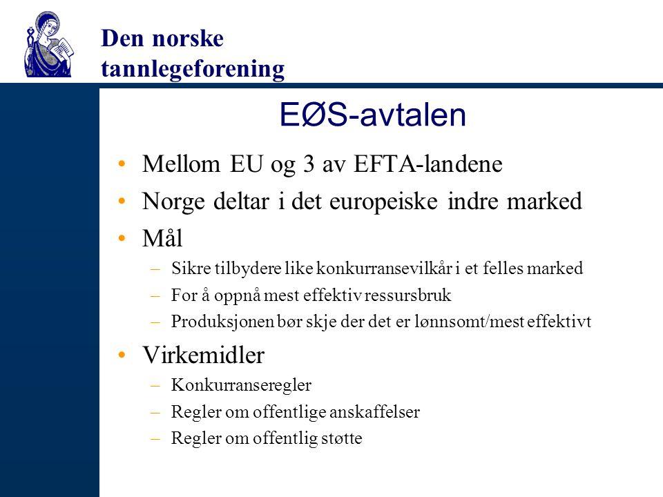 EØS-avtalen Mellom EU og 3 av EFTA-landene
