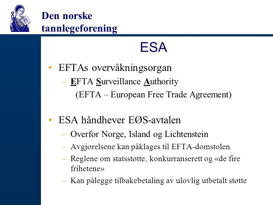 ESA EFTAs overvåkningsorgan ESA håndhever EØS-avtalen