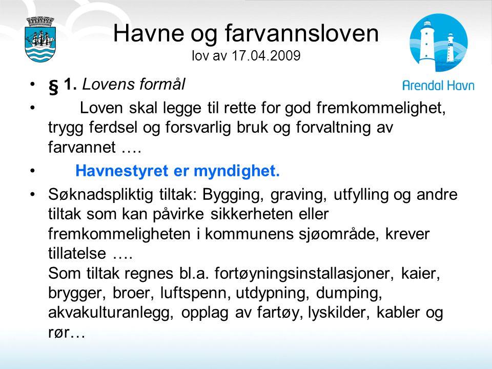 Havne og farvannsloven lov av 17.04.2009