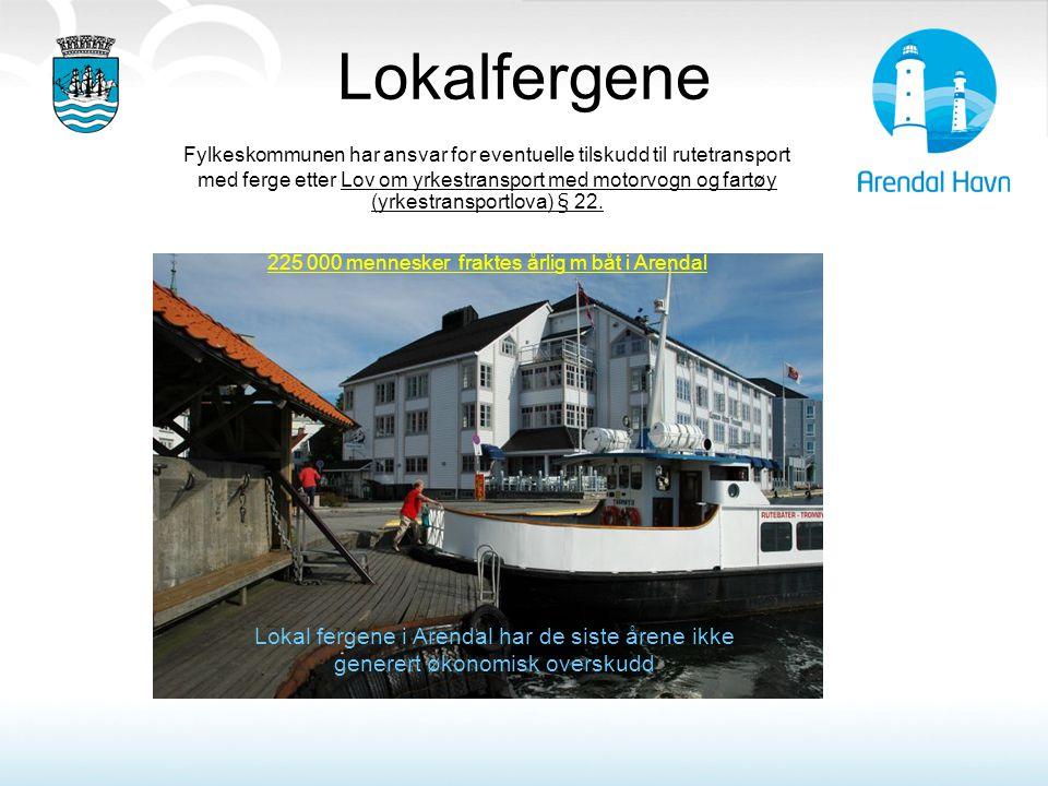 225 000 mennesker fraktes årlig m båt i Arendal