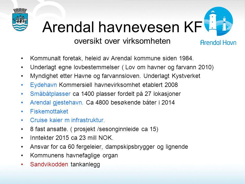 Arendal havnevesen KF oversikt over virksomheten