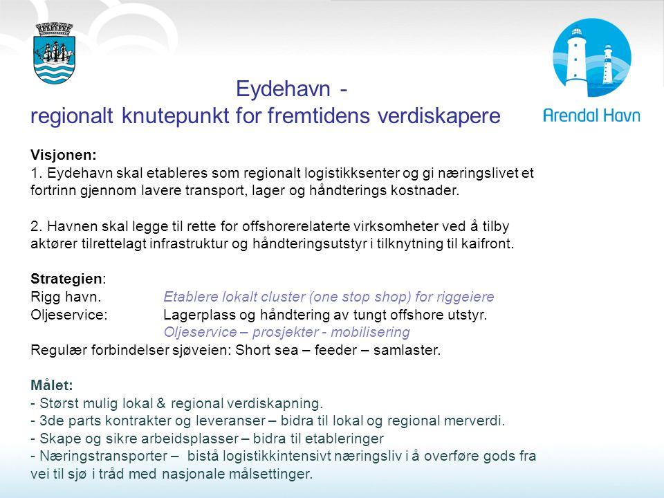 Eydehavn - regionalt knutepunkt for fremtidens verdiskapere Visjonen: