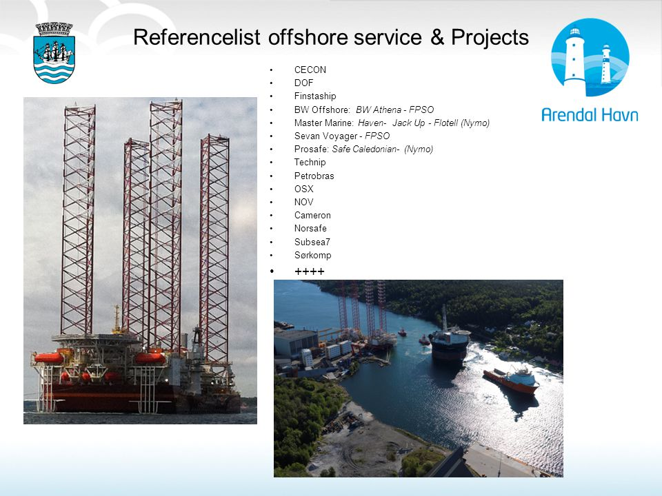 Referencelist offshore service & Projects