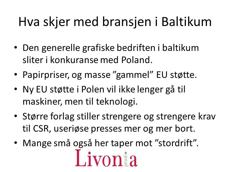 Hva skjer med bransjen i Baltikum