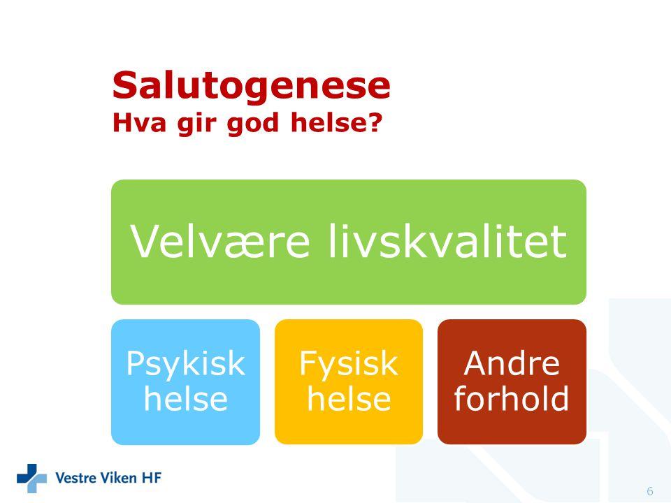 Salutogenese Hva gir god helse