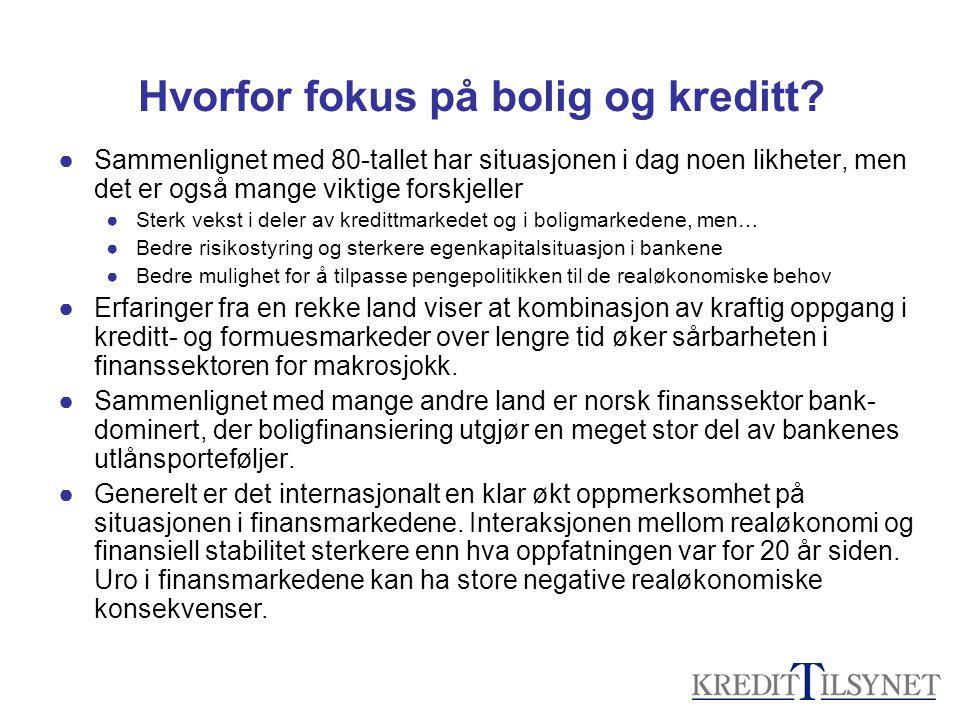 Hvorfor fokus på bolig og kreditt