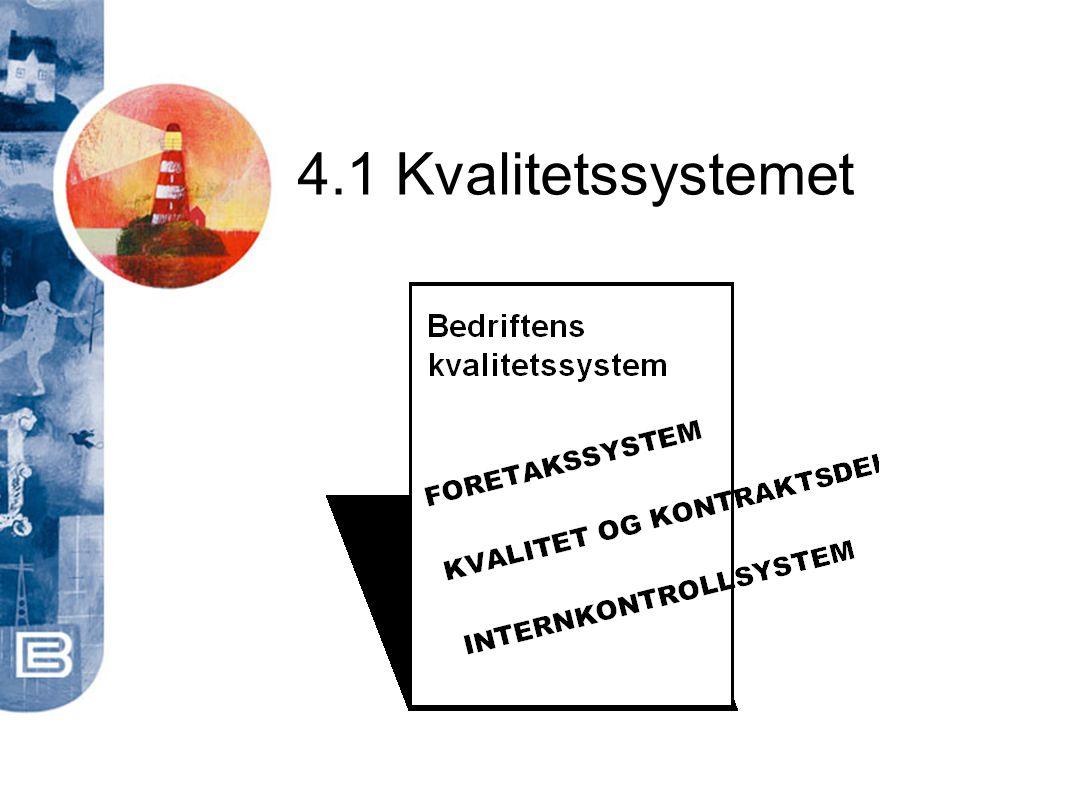 4.1 Kvalitetssystemet