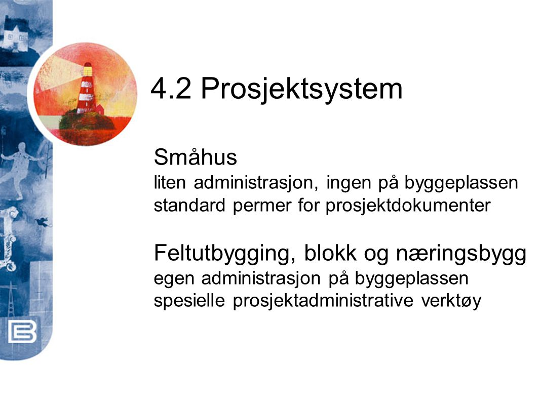 4.2 Prosjektsystem Småhus Feltutbygging, blokk og næringsbygg