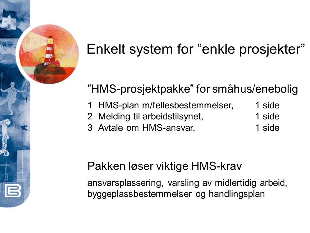 Enkelt system for enkle prosjekter