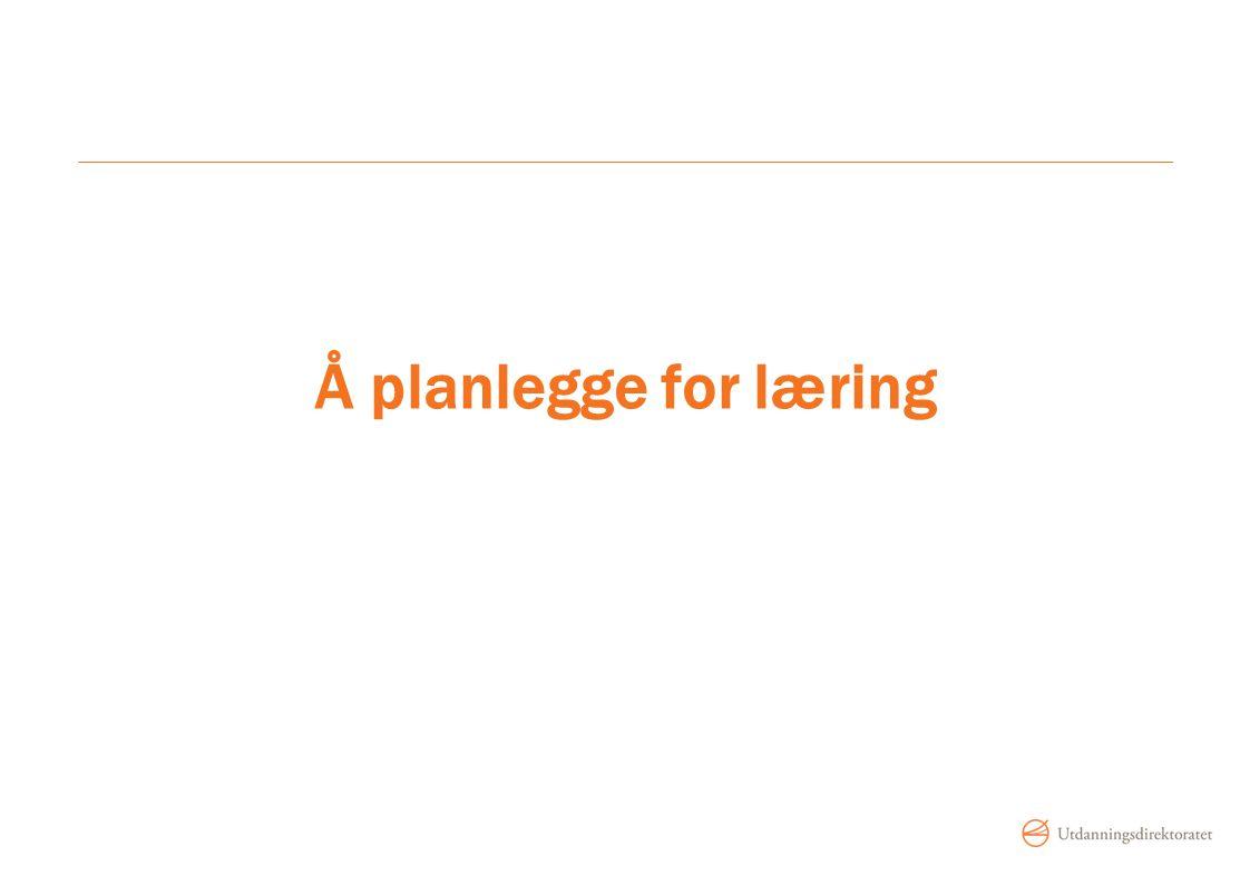 Å planlegge for læring