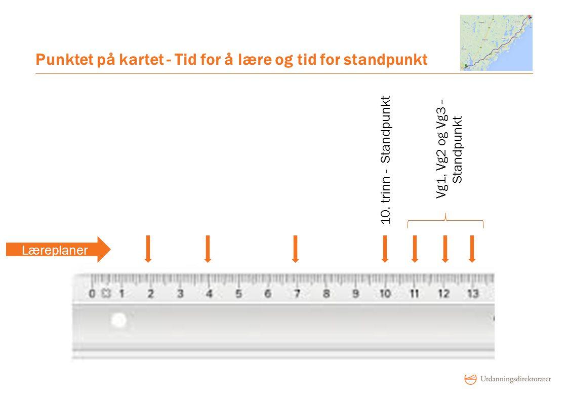 Punktet på kartet - Tid for å lære og tid for standpunkt