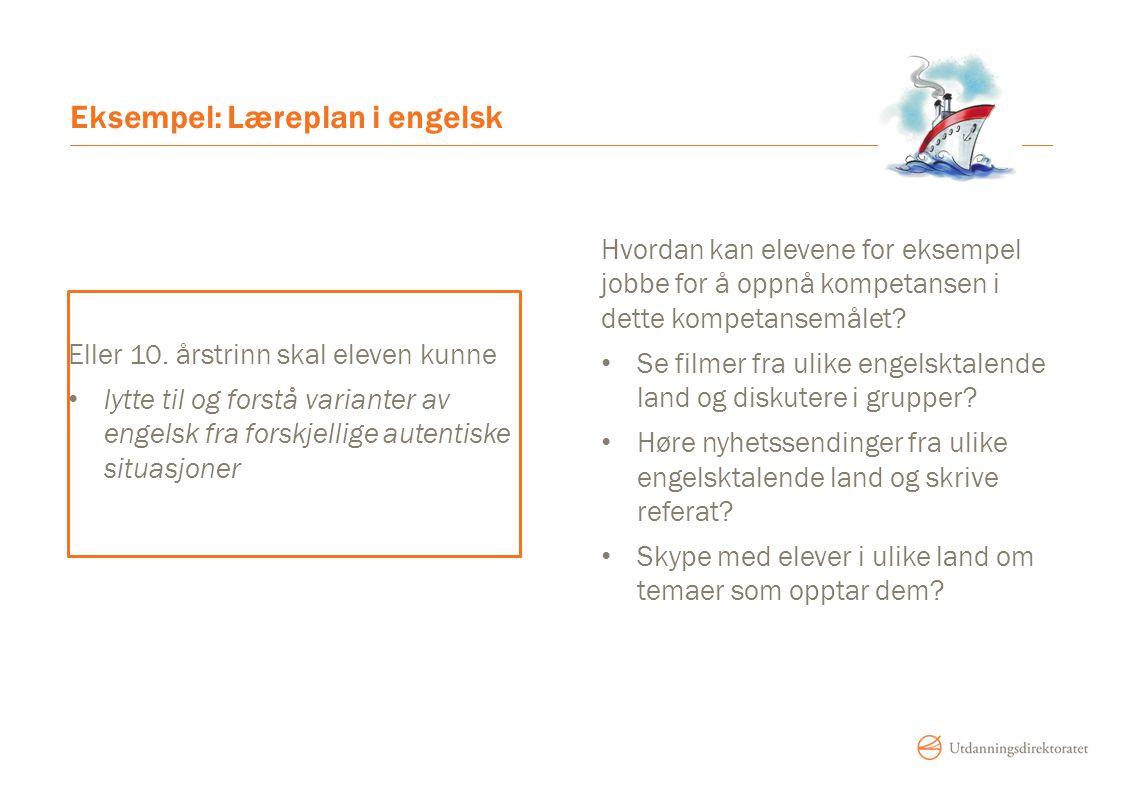 Eksempel: Læreplan i engelsk
