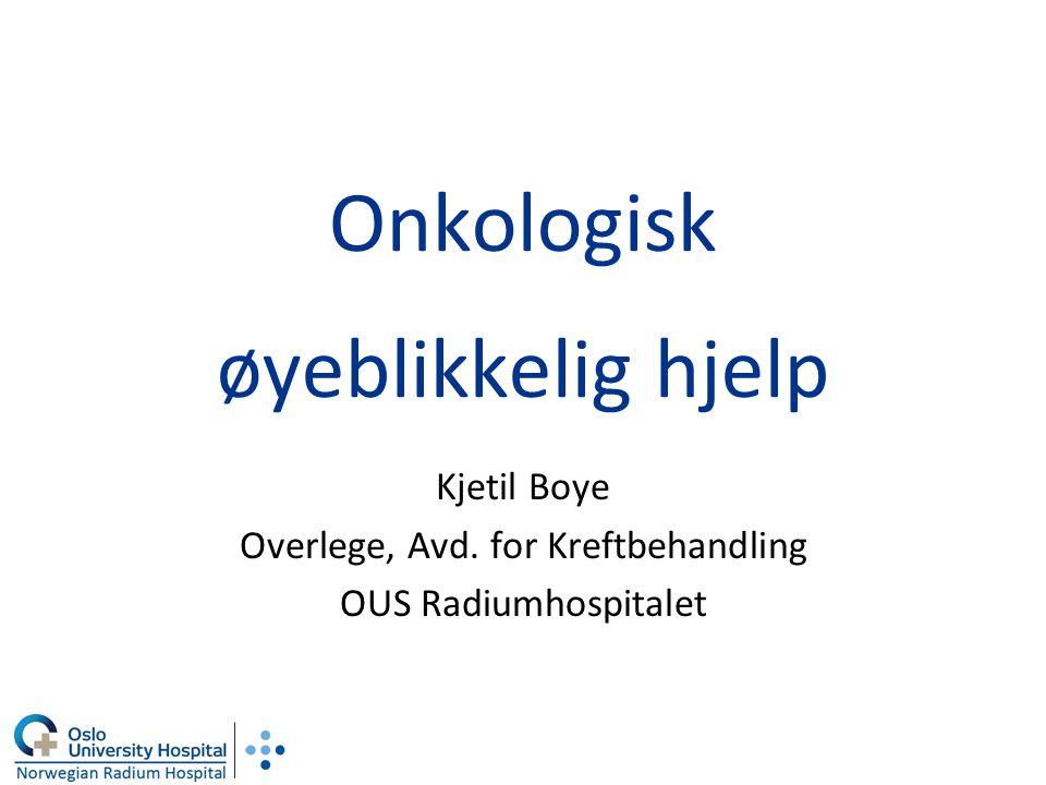 Onkologisk øyeblikkelig hjelp