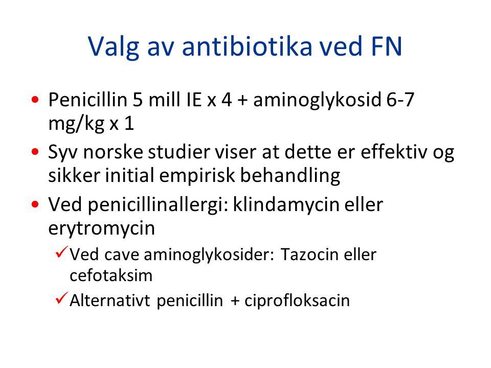 Valg av antibiotika ved FN