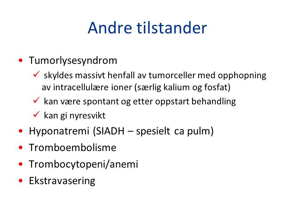 Andre tilstander Tumorlysesyndrom