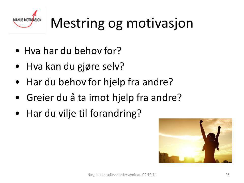 Mestring og motivasjon