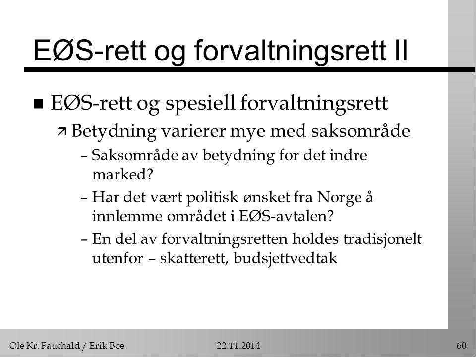 EØS-rett og forvaltningsrett II