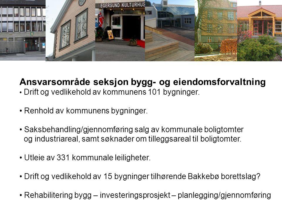 Ansvarsområde seksjon bygg- og eiendomsforvaltning