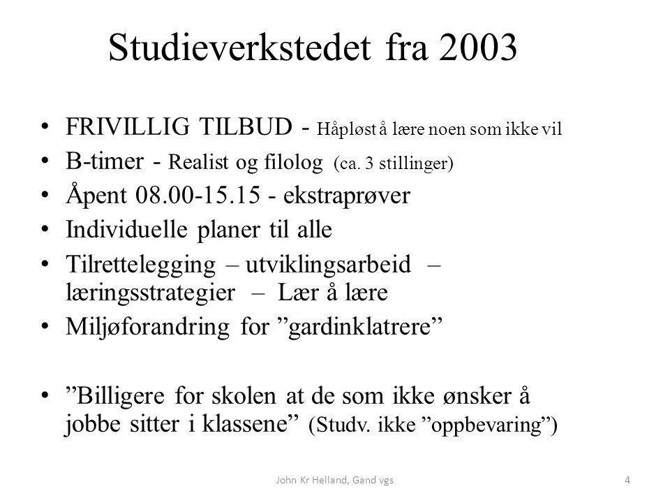 John Kr Helland, Gand vgs