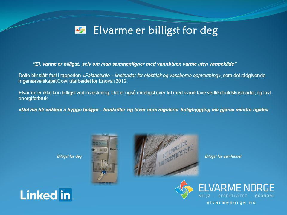 Elvarme er billigst for deg