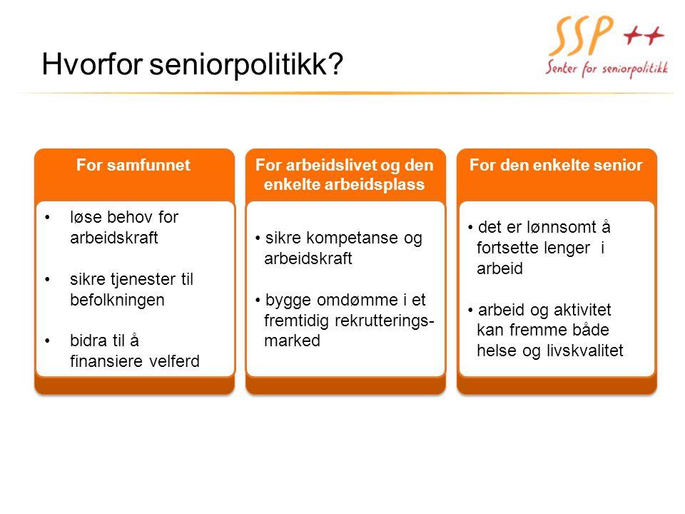 Hvorfor seniorpolitikk