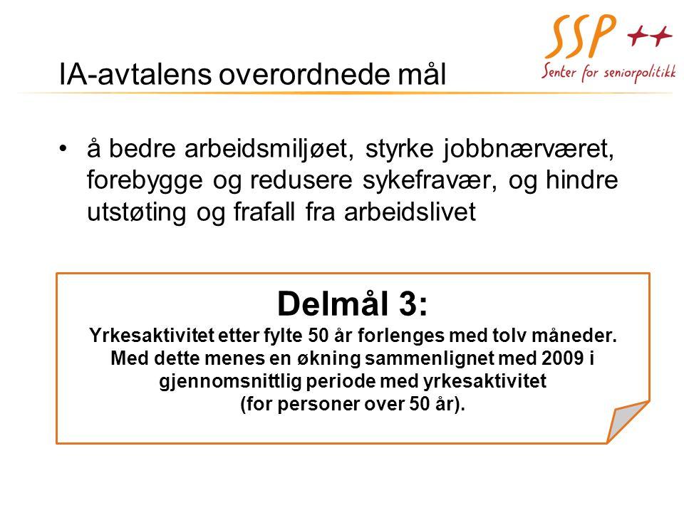 Delmål 3: IA-avtalens overordnede mål