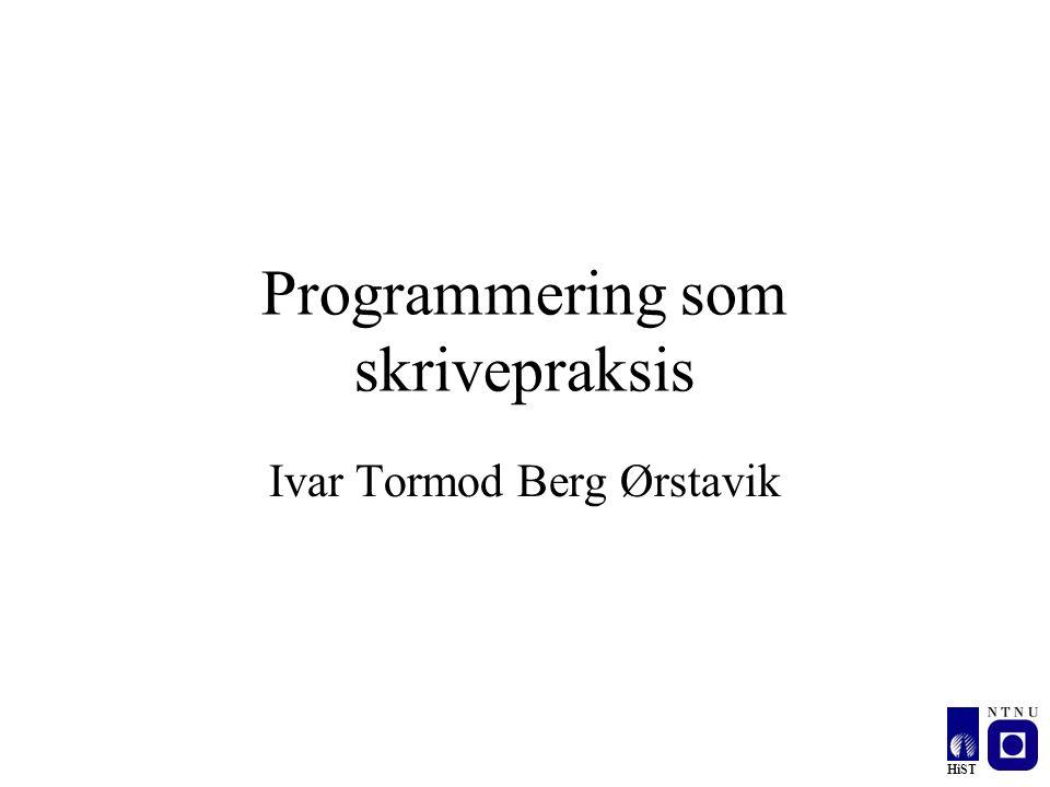Programmering som skrivepraksis