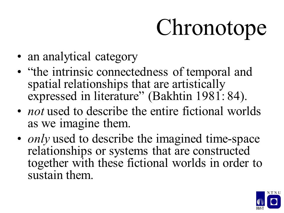Chronotope an analytical category