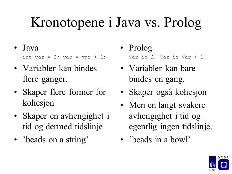 Kronotopene i Java vs. Prolog