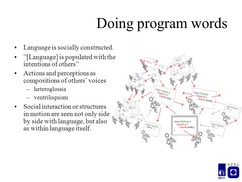 Doing program words Language is socially constructed.