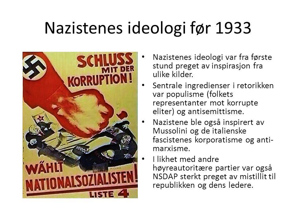 Nazistenes ideologi før 1933